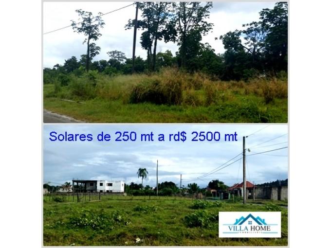 Solar de 250 mt en Don Pedro en La Vega