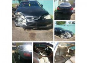 Acura CL tipoS 32 2001 CHOCADO