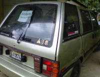 Bendo esta minivan de nissan