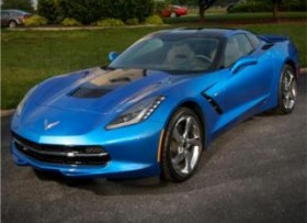 CORVETTE STINGRAY LAGUNA BLUE 2014