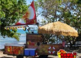 Carretón en forma de barco para papas hot d