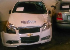 Carro chocado Chevrolet Aveo 2013 4 puertas