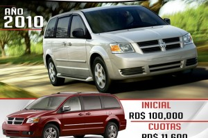 Dodge Grand Caravan 2010 rojo
