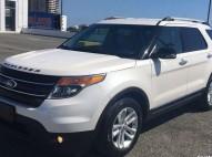 Ford explorer xlt 2012 blanca importada 3 filas