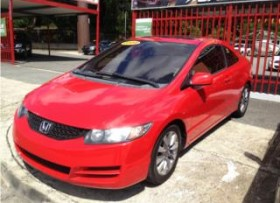 HONDA CIVIC 09 STD CUPE ROJO