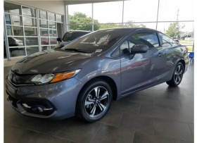 HONDA CIVIC EX CUPE 2015 GRIS OSCURO