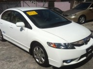 Honda Civic 2009 Blanco LX Gas NAtural de Fabrica