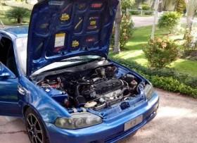 Honda Civic azul del 1992