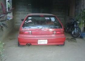 Honda civic 1991 rojo dos puerta en buena condicion