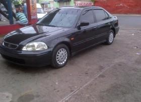Honda civic 2000 ferio color negro optimas condiciones