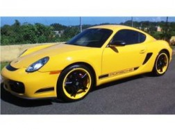 PORSCHE CAYMAN 2007 SPEED YELLOW SHIFTRONIC