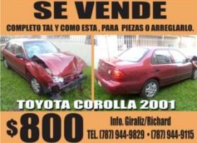 Se vende Toyota 22R para arreglarlo