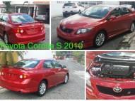 Toyota Corolla S 2010 Rojo Recien Importado 32 mil Millas