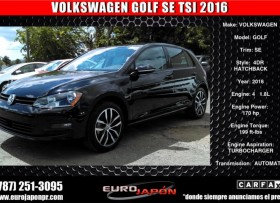 VOLKSWAGEN GOLF SEL PIEL TURBO 2016