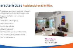 Venta apartamento lujoso en Santo Domingo - El millón