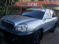hyundai santa fe 2002 275000 mil pesos gris